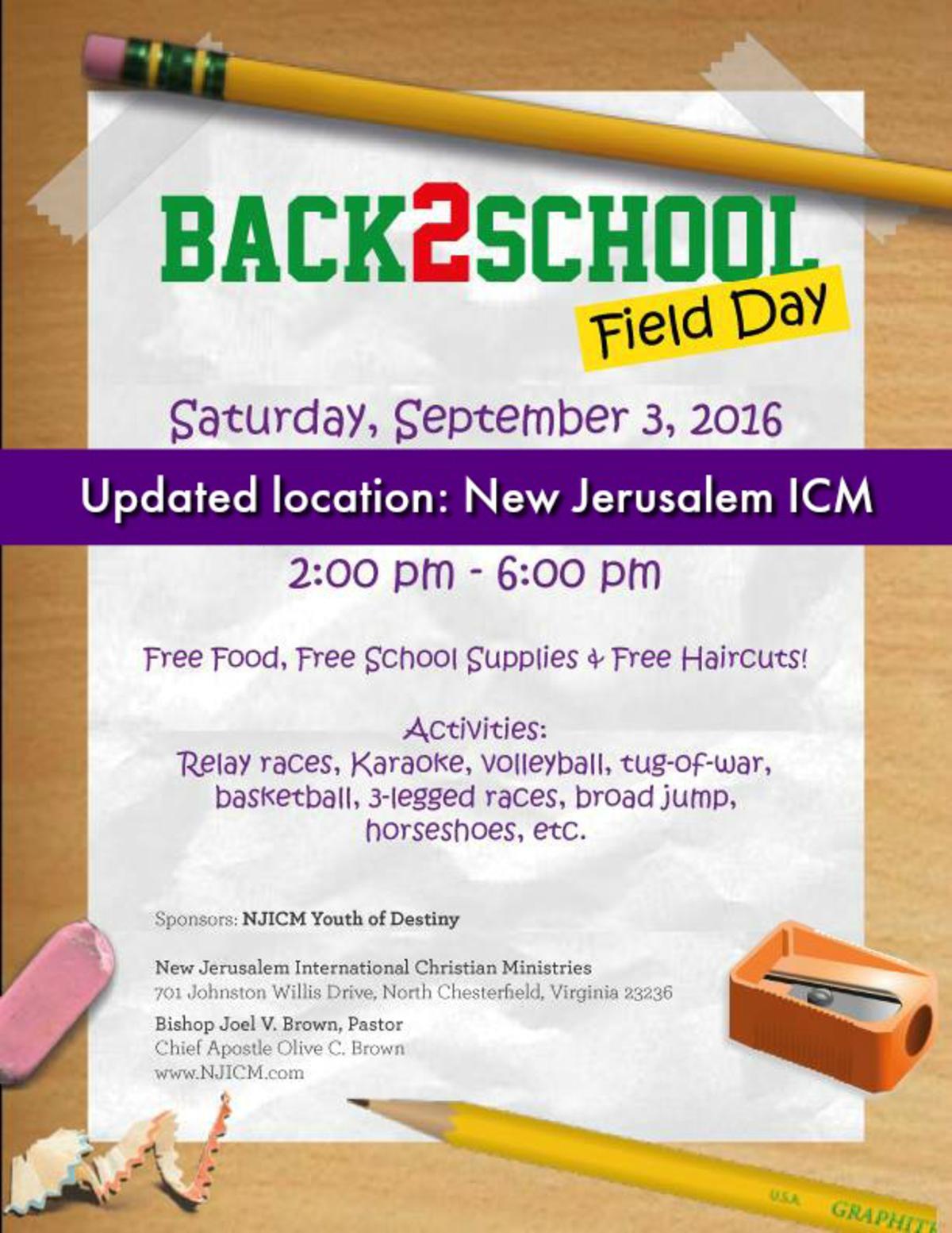 Back 2 School Field Day
