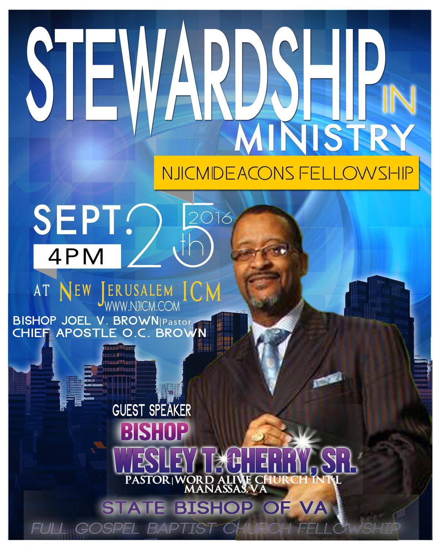 NJICM Deacon's Fellowship Service, Sunday, September 25th!