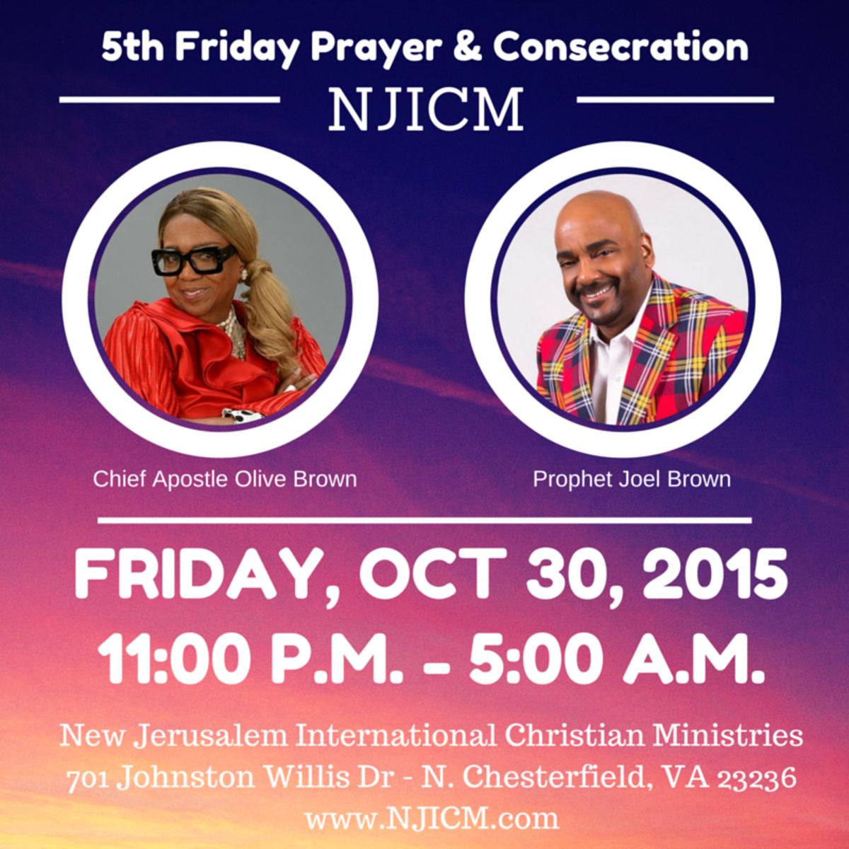 5th Friday Prayer