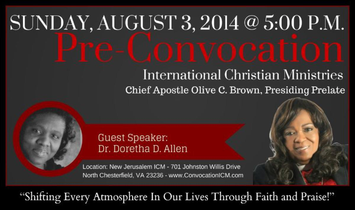 Pre-Convocation - Sunday, August 3, 2014