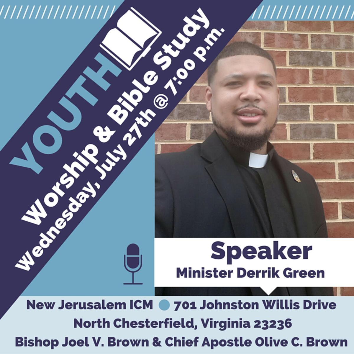 Speaker: Minister Derrick Green