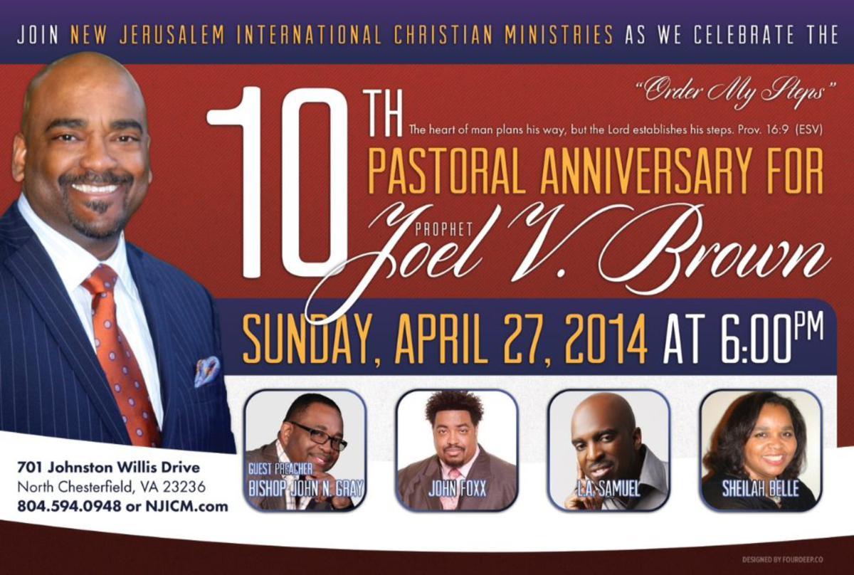10th Pastoral Anniversary of Prophet Joel V. Brown