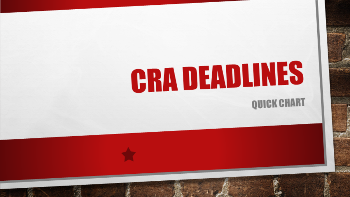CRA Deadlines - 2019