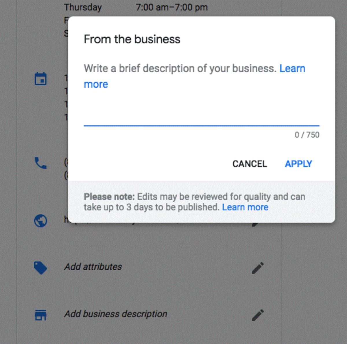 Adding A Business Description In Google Is Now Hassle Free