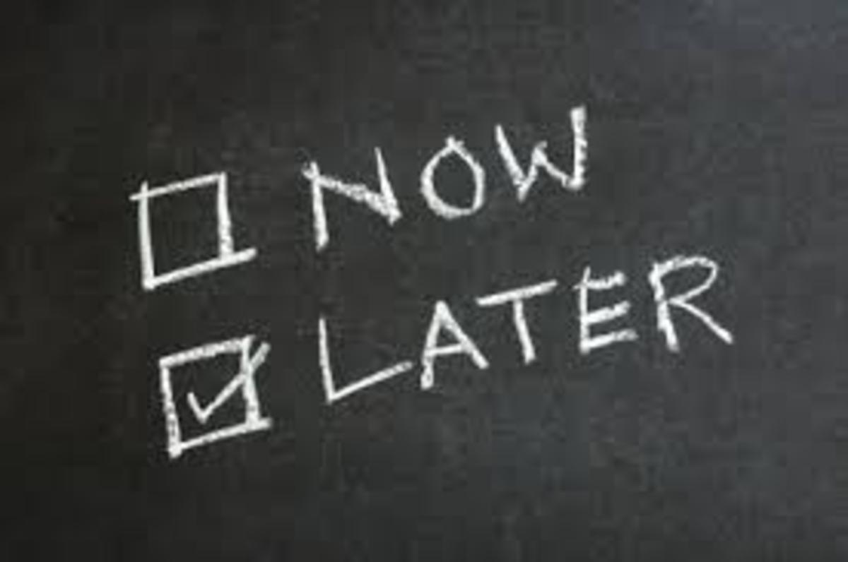 The price of procrastination