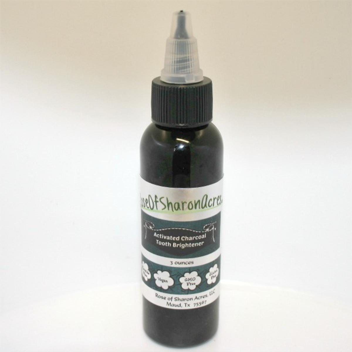 Natural Activated Charcoal Tooth Brightener