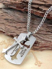 Engraved First Communion Heart Necklace