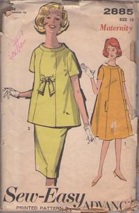 Vintage 92cm  36 bust size 1950s ruched front yoke with extended shoulder sleeve summer dress sewing pattern
