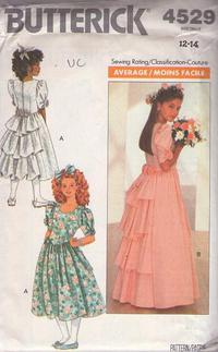 6529566284 Butterick 4529 Vintage 80 s Sewing Pattern GORGEOUS Teen Girls Fancy Formal  Garden Party Dress