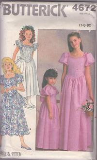 10   Sewing Pattern Butterick 4441 Girls/' Fancy Dress 7 8