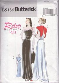 856add7066fd Butterick 5136 Retro 2007 Sewing Pattern Vintage Retro Repro AMAZING  Glamour One Shoulder Evening Gown, Red Carpet Gala Event Party Dress &  Topper Jacket ...