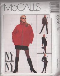 7710237a9 McCall's 8516 Retro 90's Sewing Pattern HOT Mod Throwback NY The Collection  Oversized Zipper Front Jacket, Coat, Mini Skirt, Trousers Size 10