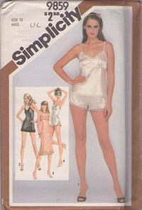 ec9dd834c Simplicity 9859 Vintage 80 s Sewing Pattern SEXY Silky Lace Trimmed Half  Full Slip