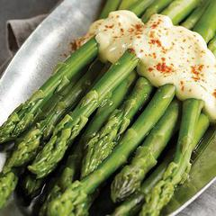 Asparagus Spears With Hollandaise Sauce