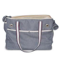 dogo blue nautical striped dog carrier