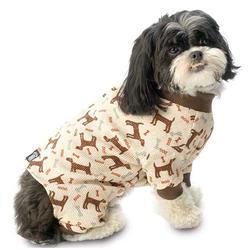 brown dog thermal pjs