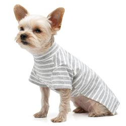 aa3c2fcb751 Dogo Pet Basic Stripe Grey Dog Tank Top