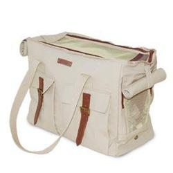 dogo roomy white buckle tote dog carrier