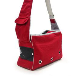 Dogo Red Boxy Messenger Dog Bag