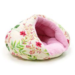 Dogo Burger pink and white Floral Pet Bed