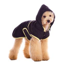 waterproof classic black dog trench coat