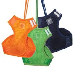 solid  colored mesh step in small dog harness