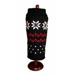 dallas dog Red with white Snowflakes Sweater Dog Dress