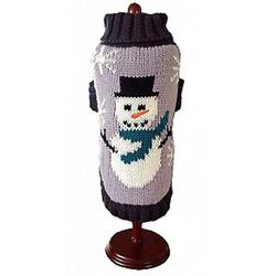 dallas dog knit dog sweater with Frosty the Snowman