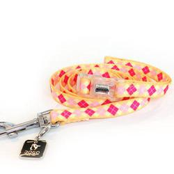 Contempo pastel colored Argyle Lead