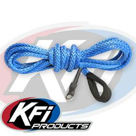 """KFI SYN23-B38 15//64/"""" Synthetic 38/' ATV Winch Cable Blue for 4000-5000lb Winch"""