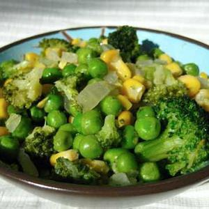 Broccoli Peas and Corn