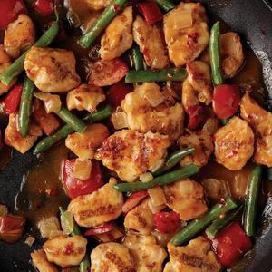 Skillet Mea: Peanut Butter Chicken with Rice
