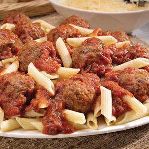 Spaghetti and meatballs shipped