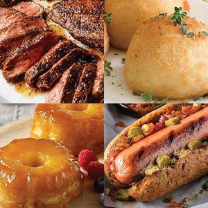 Meat Potatoes and Dessert Sent