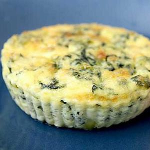 Vegetarian meal - crustless spinach quiche