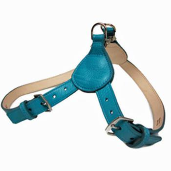 leather step in dog harness