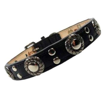 atc Stud and Jacket leather dog Collar