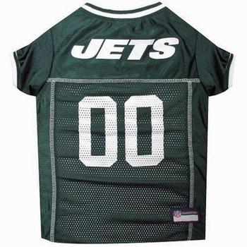 green NY sports team Jets dog jersey