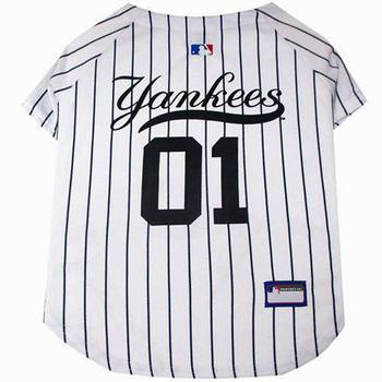 NY Yankees dog jersey