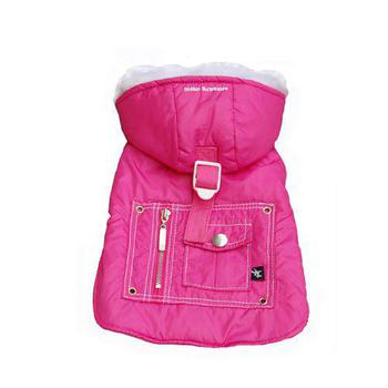 hooded dog coat with pocket