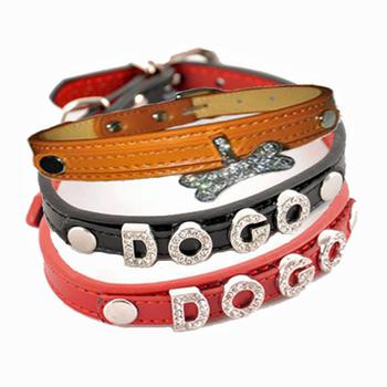 Rhinestone Name Personality Dog Collar