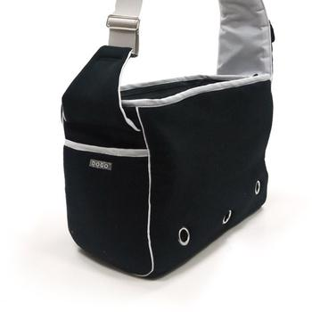 Dogo Black Boxy Messenger Dog Bag