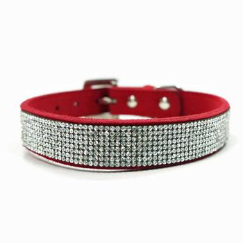 Dogo Red VIP Bling Dog Collar