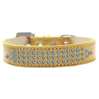 five rows of Crystals on Metallic Bling Collar