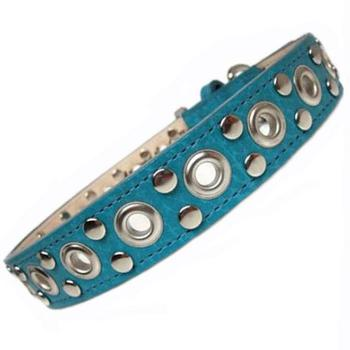 ATC Genuine Leather collar with Nickel Eyelet and Stud Cluster
