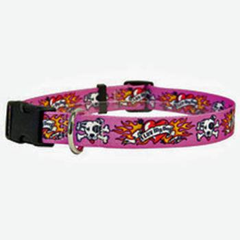 I Luv My Dog Pink tatoo collar