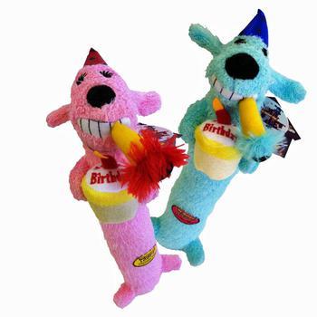 happy Birthday dog toy loofah