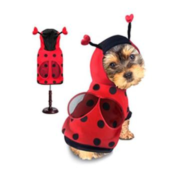 red and black winged ladybug dog costume