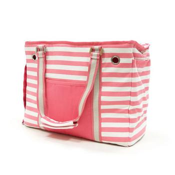 Dogo Pink and white Striped Tote Carrier