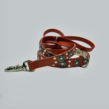 Studs and Jacket leather dog Lead